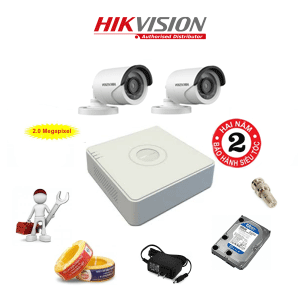 Trọn Bộ 2 Camera HD1080P HIKVISION DS-2CE16D0T-IRP