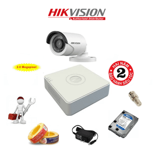 Trọn Bộ 1 Camera HD1080P HIKVISION DS-2CE16D0T-IRP