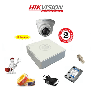 Trọn Bộ 1 Camera HD1080P HIKVISION DS-2CE56D0T-IRP
