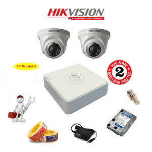 Trọn Bộ 2 Camera HD1080P HIKVISION DS-2CE56D0T-IRP