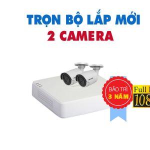 TRỌN BỘ 2 CAMERA HIKVISION FULL HD 1080P