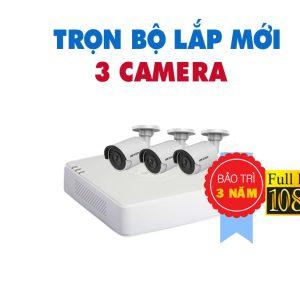 TRỌN BỘ 3 CAMERA HIKVISION FULL HD 1080P