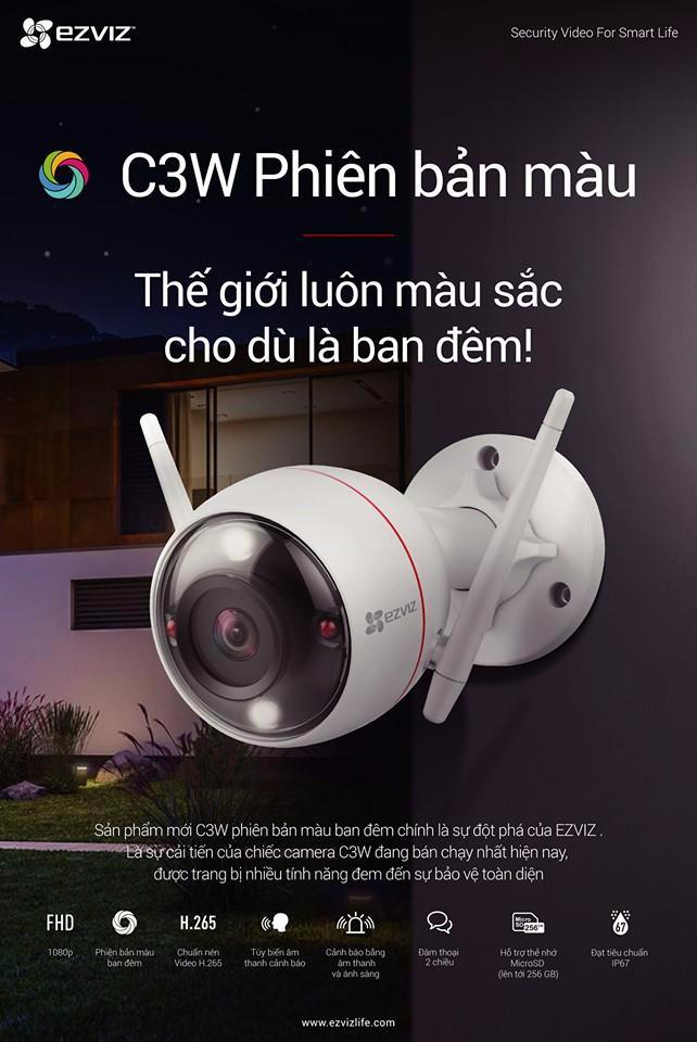 Camera Màu Ban đêm EZVIZ C3W CS-CV310 Color Night Vision